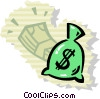Vector Clip Art picture  of a Money Bags