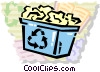 Blue Boxes or Recycle Box Vector Clip Art graphic