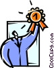 Vector Clip Art graphic  of an Accomplishment