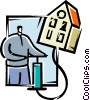Vector Clipart graphic  of a Urban Housing