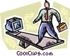 Vector Clip Art graphic  of a Balancing