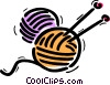 Vector Clip Art image  of a Knitting Yarn Wool