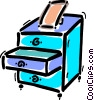 Vector Clip Art graphic  of a Drawers and Cabinets