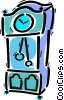 Vector Clipart graphic  of a Grandfather Clocks