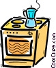 Electric Ovens Vector Clip Art graphic