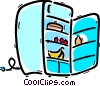 Vector Clipart graphic  of a Fridges or Refrigerators