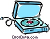 Contemporary Record Players Vector Clipart graphic