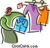 Vector Clipart graphic  of a Consumers