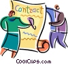 Vector Clipart image  of a Business Contracts