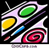 Vector Clipart picture  of a Paint and Brushes