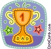 Vector Clip Art picture  of a Father's Day