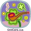 Vector Clipart image  of a Shamrocks