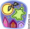 Vector Clip Art image  of a Ghosts