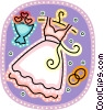 Vector Clipart graphic  of a Brides