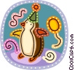 birthday penguin Vector Clipart illustration