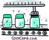 Assembly Lines Vector Clip Art graphic