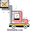 Vector Clip Art image  of a Fork Lifts