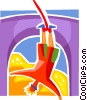 Vector Clip Art picture  of a Bungee Jumping