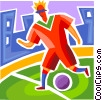 Soccer Players Vector Clipart picture