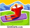 Vector Clipart graphic  of a Situps
