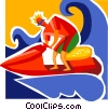Personal Watercraft Vector Clipart image