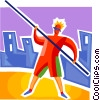 Pole Vaulter Vector Clipart graphic