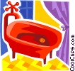 Vector Clip Art graphic  of a Bathtubs