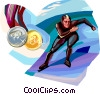 Speed Skating Vector Clipart illustration