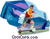 Vector Clip Art image  of a Soccer Players