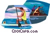 Rowing Vector Clip Art picture