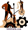 Manufacturing concept Vector Clipart illustration
