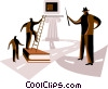 Vector Clipart graphic  of a Climbing Ladders