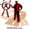 Vector Clipart graphic  of a Control and Manipulation