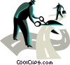 Vector Clip Art image  of a Dilemma