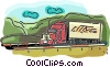 transport truck Vector Clipart illustration