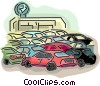 Vector Clipart illustration  of a Car dealership