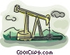 Vector Clipart illustration  of a oil well