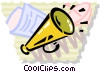 Vector Clip Art picture  of a Megaphones