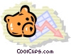 Vector Clip Art graphic  of a bear market