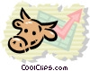 Vector Clipart graphic  of a bull market