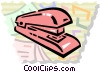 Vector Clip Art picture  of a Staplers
