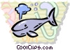 Vector Clip Art picture  of a Whales