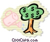 Vector Clipart illustration  of a money tree