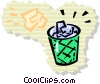 Vector Clipart graphic  of a Ice Cubes