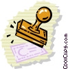 Rubber Stamps Vector Clipart picture