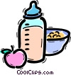 Vector Clip Art graphic  of a Baby Bottles