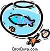 Vector Clipart illustration  of a Fishbowls
