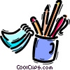 Assorted Pens Vector Clipart graphic