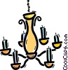 Vector Clip Art graphic  of a Chandeliers