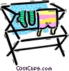 Vector Clip Art graphic  of a Laundry